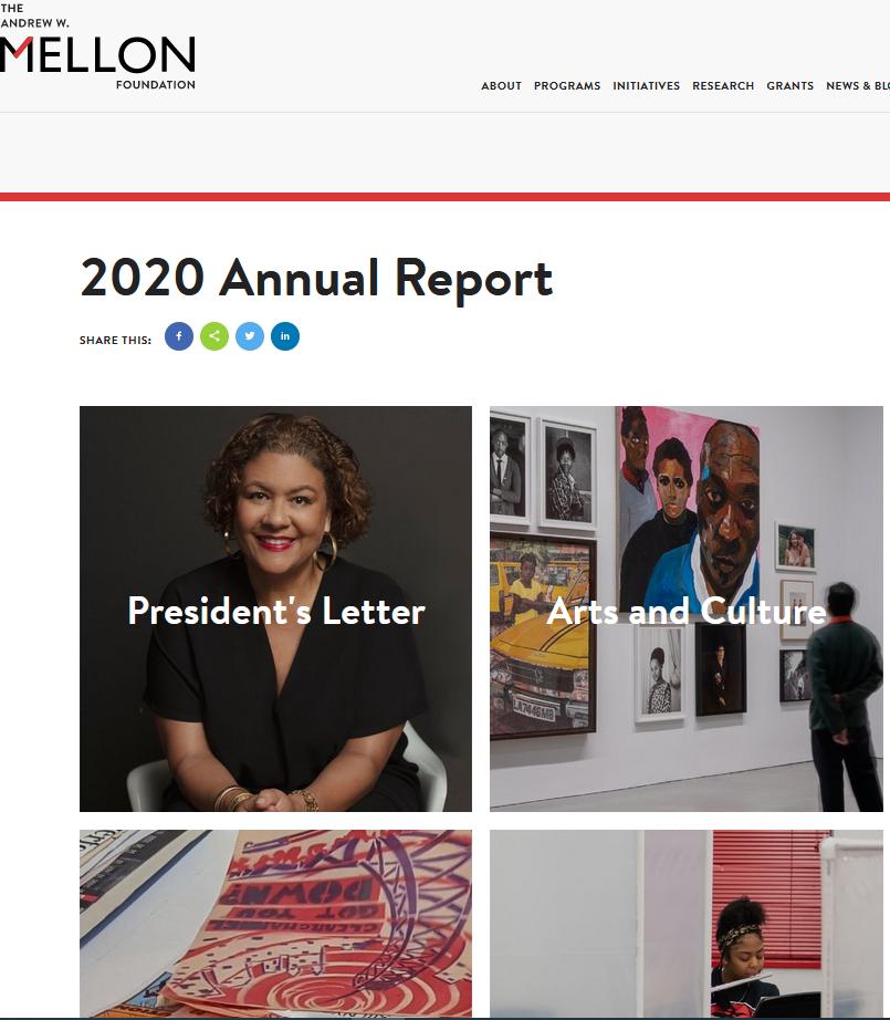 The Andrew W. Mellon Foundation 2020 Annual Report