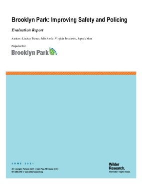 Brooklyn Park: Improving Safety and Policing - Evaluation Report